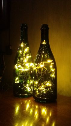These beautiful accent lights are made from upcycled bottles, so our stock is forever changing. We also welcome you to send us your favorite empty bottle! We carefully drill a hole in the back of the bottle, insert a strand of 20 holiday lights and then a rubber grommet to protect the cord from the glass. Please feel free to message us to see what bottles we currently have available in addition to those listed. Or let us surprise you! Additional photos are available, feel free to message…