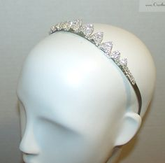 Rhinestone headpiece by OvertheTopHats on Etsy, $59.00