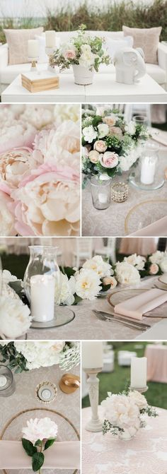 Get inspired by our event and wedding rentals. See real brides and grooms use linens & furniture rentals to create their special and unique wedding design! Wedding Rentals, Wedding Events, Wedding Flower Inspiration, Wedding Flowers, Unique Weddings, Real Weddings, Blush Color Palette, Wedding Paper Divas, Cream Blush