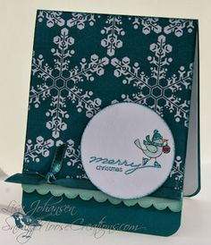 snowflakes, For the Birds, More Merry Messages, Paper: Island Indigo, Pool Party, Whisper White, Winter Frost DSP, Ink: Island Indigo, Pool Party, Bermuda, coastal cabana