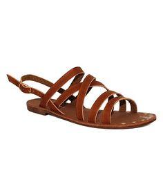 8d33d61bfd1 Cognac Heel-Strap Metric Sandal  zulily  zulilyfinds Strap Heels