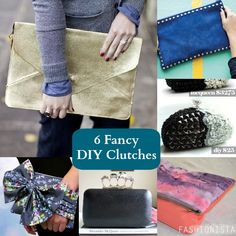 6 Fancy DIY Clutches.. Love this DIY craft! It's a perfect gift for your bridesmaids on your wedding day. It's simple to do and does not take a lot of time.