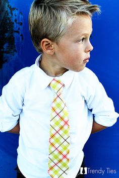 Cute plaid tie for Kian