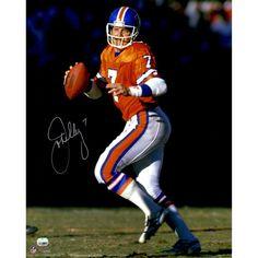 John Elway Denver Broncos Fanatics Authentic Autographed 16'' x 20'' Throwback Jersey Dropback Photograph