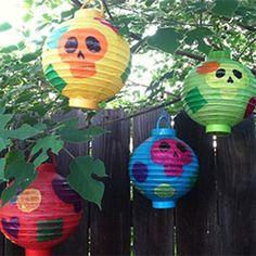 Sugar Skull Paper Lanterns