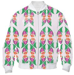 Iris Garden Bomber Jacket
