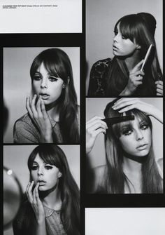 Gallery Update - Edie Campbell as Pattie Boyd for Lula - I absolutely love this shoot I worked on for the current issue of Lula Magazine. The story was based around a set of pictures Pattie Boyd did in the .a kind of beauty 'How To'. Twiggy also d Edie Campbell, Vintage Makeup, Vintage Beauty, 1960s Makeup, Mod Makeup, Twiggy Makeup, Makeup Inspo, Makeup Inspiration, Style Inspiration