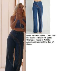 Rainbow Jeans from Wet Hot American Summer First Day of Camp