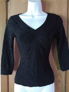 Black and White Chevron Long Sleeve Studio Y Maurices Top Shirt ...