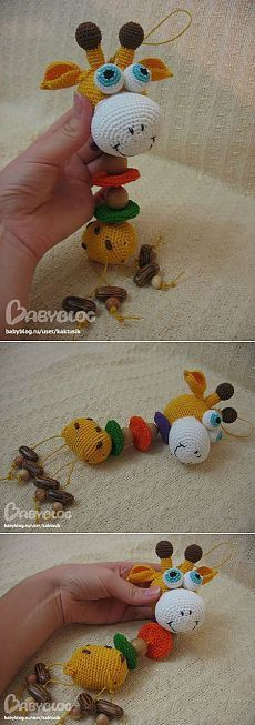 Вяжем крючком Развивающая игрушка Жираф мастер класс » Вязание крючком - схемы, видео, уроки