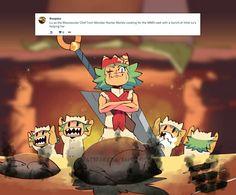 Weekly Doodles - Meowster Chef by RandoWis Randowis Comics, Manga Comics, Funny Comics, Monster Hunter Series, Monster Hunter World, Funny Art, Funny Memes, 4 Panel Life, Funny Comic Strips