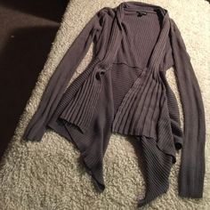 Gray thick sweater / cardigan Brand: George. Size: Small. Perfect condition. Sweater weather! High low style George Sweaters Cardigans