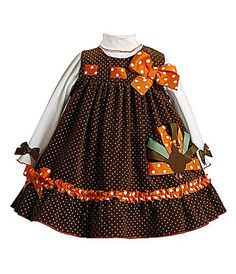 Thanksgiving inspiration -- like the ribbon detail on bodice (woven through buttonholes perhaps?)