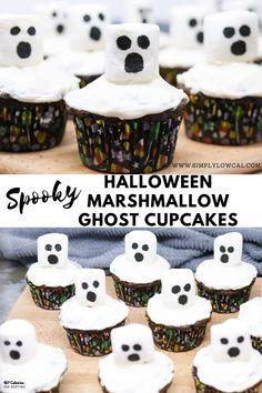 Fun Halloween Treats, Halloween Baking, Halloween Desserts, Spooky Halloween, Holiday Treats, Halloween Recipe, Happy Halloween, Ghost Cupcakes, Cupcake Cakes