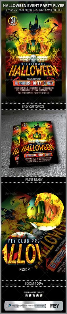 Halloween Event Party Flyer Template PSD | Buy and Download: http://graphicriver.net/item/halloween-event-party-flyer/8713018?WT.ac=category_thumb&WT.z_author=feydesign&ref=ksioks
