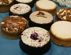 Our mini cheesecakes are delicious and are offered in a flavor assortment of our Original New York Cheesecake, Black Forest Cheesecake, Cappuccino Cheesecake and Turtle Cheesecake. Turtle Cheesecake, Cheesecake Cake, Cheesecake Delivery, Davids Cookies, Online Bakery, Mini Cheesecakes, Individual Cheesecakes, Roasted Nuts, Angel Cake