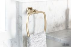 Bold lines make this Margaux towel ring beautiful as well as durable.