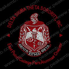 DELTA SIGMA THETA SORORITY INC Rhinestone Transfers Design for Clothes Decoration