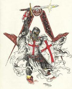 15 Tatuajes De Caballeros Templarios Y Cruces Templarias