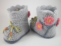 How to crochet shoes