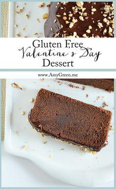 Gluten Free Valentine's Day Dessert • Chocolate Loaf Cake with Chocolate Ganache • http://amygreen.me