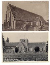 2 x  vintage postcards of FARINGDON OXFORDSHIRE ALL SAINTS CHURCH AND GREAT BARN