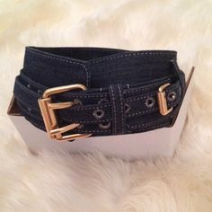 Stella McCartney denim corset belt Bought in Scoop NYC and only worn once. This denim belt is über sexy ad can spruce up any outfit. This is for the total fashionista! Fits like an XS/S. Stella McCartney Accessories Belts