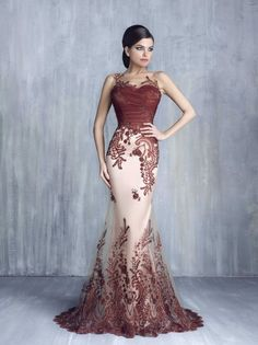 Tony Chaaya 2017 Lace Beaded Mermaid Evening Formal Dresses Sheer Neck Dubai Arabic Over Skirt Fishtail Occasion Prom Party Gowns Prom Party Dresses, Formal Evening Dresses, Party Gowns, Elegant Dresses, Pretty Dresses, Evening Gowns, Wedding Dresses, Dress Prom, Afternoon Dresses