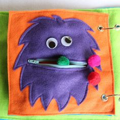 Custom Quiet Book Page Hungry Monster by RoseInBloomCreations