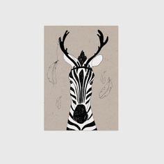 Kinderposter Zebra op kraftpapier Kinderposter Zebra op kraftpapier is een leuke poster voor op de kinderkamer, deze poster is er één uit een serie van zes. Zes dieren posters; panda, pinguïn, zebra, poes, wasbeer en een ijsbeer. Deze serie is ook verkrijgbaar in een kaarten serie van vijf. Deze posters zijn gedrukt op Biotop papier 250gr, 14,8 x 21