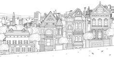 coloring book splendid cities - Pesquisa Google