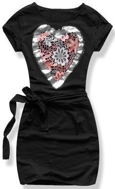 Teplákové šaty čierne