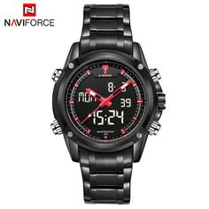 4th of July Deals at SaveMajor.com Men Watches Full ... Check it out http://savemajor.com/products/men-watches-full-steel-watch-men-luxury-brand-naviforce-clock-men-quartz-digital-analog-led-watch-sport-military-wristwatch?utm_campaign=social_autopilot&utm_source=pin&utm_medium=pin