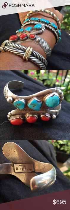Spotted while shopping on Poshmark: Turquoise and coral bracelet! #poshmark #fashion #shopping #style #Vintage #Jewelry