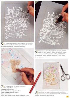 Supplies Embossing and Perforating Pad (This spongy pad gives support for perforating and embossing. The depth is thick enough . Vellum Crafts, Parchment Design, Brush Embroidery, Parchment Cards, Newspaper Crafts, Card Tutorials, Paper Cards, Craft Gifts, Paper Cutting
