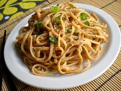 Using a homemade peanut sauce makes these Thai Peanut Noodles a quick and easy meal.