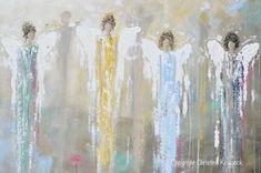 GICLEE PRINT Art Abstract Guardian Angels Painting Angel Wall Art~ Joyful Heart Foundation Charity - Christine Krainock Art - Contemporary Art by Christine - 7