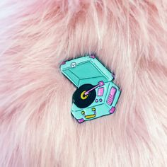 Phonograph Enamel Pin by BlackDressWildHeart on Etsy https://www.etsy.com/listing/261433014/phonograph-enamel-pin