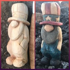 little guy just might be my new favorite. Wood Projects For Beginners, Wood Working For Beginners, Diy Wood Projects, Wood Crafts, Wood Carving Patterns, Wood Carving Art, Carving Designs, Whittling Projects, Whittling Wood