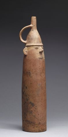 "Figurative Bottle, Salinar, 200 BC - 100 AD, ceramic orangeware (for more ceramic art see my board ""ceramic art. Irit)"