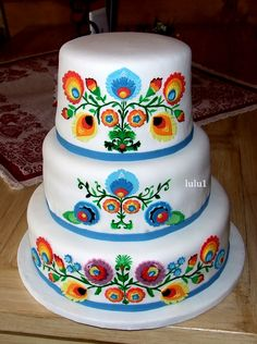 Tort weselny na ludowo. Shared by Where YoUth Rise Pretty Cakes, Beautiful Cakes, Amazing Cakes, Fondant Cakes, Cupcake Cakes, Fiesta Cake, Occasion Cakes, Fancy Cakes, Creative Cakes