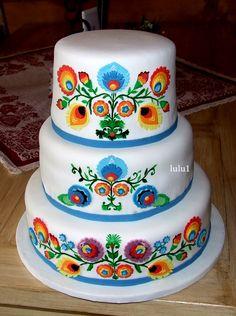 Tort weselny na ludowo.........