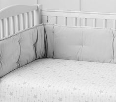 Shooting Star Organic Cot Fitted Sheet, Grey