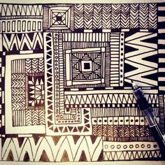 #thisiswhatido #thisishowidoit #textile #design #black #and #white #pen #work #penwork #instadoodle #doodle #geometric #contemporart #kitch #quirkyouup #quirky #mywork #lovewhatido #state #of #mind