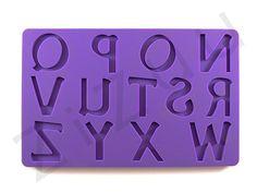 Stampi lettere N-Z in silicone #ZiZuu #ZiZuu.Store #stampi #3d #prodotti #offerte #catalogo