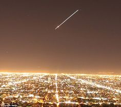 Over Los Angeles night