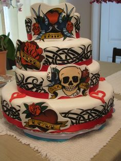 Tattoo Cake Ideas | Tattoo Cake Other Cakes By Oh2beinxtc On Cakecentralcom