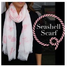 SALEBOGO Pink seashell scarf FINAL SALE. ASK ANY QUESTIONS BEFORE PURCHASINGPink seashell scarf. New in packaging. CupofTea Accessories Scarves & Wraps