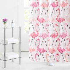 154 Best Flamingo Shower Curtains Images In 2019