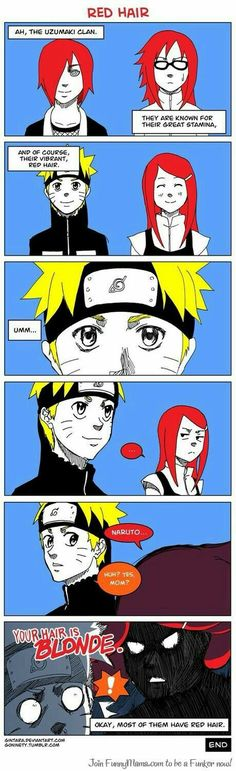 Your grandchildren haven't got red hair too Kushina :D